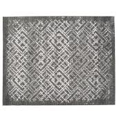 Tapis intérieur Korhani Home, Clathra, 8' x 10', gris argent