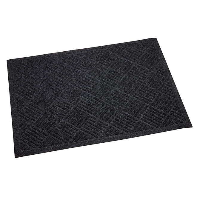 "Esteem Door Mat - 31"" x 44"" - Polyester and Rubber - Black"