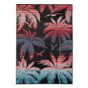 Reversible Exterior Rug - Plastic - 5' x 7' - Black/Red