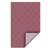 Reversible Outdoor Rug - Plastic - 5' x 7' - Red and White