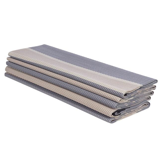 Studio Reversible Outdoor Rug - Plastic - 9' x 12' - Grey/Beige K16448