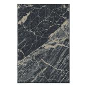 Korhani Outdoor Rug - Studio - Polyester - 6.5 ft x 7.9 ft - Marble Black