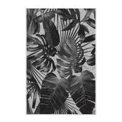 Korhani Outdoor Rug - Studio - Polyester - 6.5 ft x 7.9 ft - Grey Palm