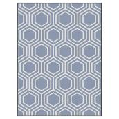 Korhani Outdoor Rug - Studio - Polypropylene - 6.5 ft x 7.9 ft - Blue Trellis
