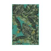 Korhani Outdoor Rug - Studio - Polyester - 59-in x 79-in - Green Palm