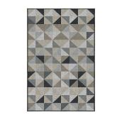 Korhani Outdoor Rug - Studio - Polypropylene - 59-in x 79-in - Neutral Geo