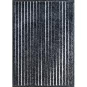 Studio - Indoor/Outdoor Utility Rug - Bjorn - 2-ft x 3-ft - Black
