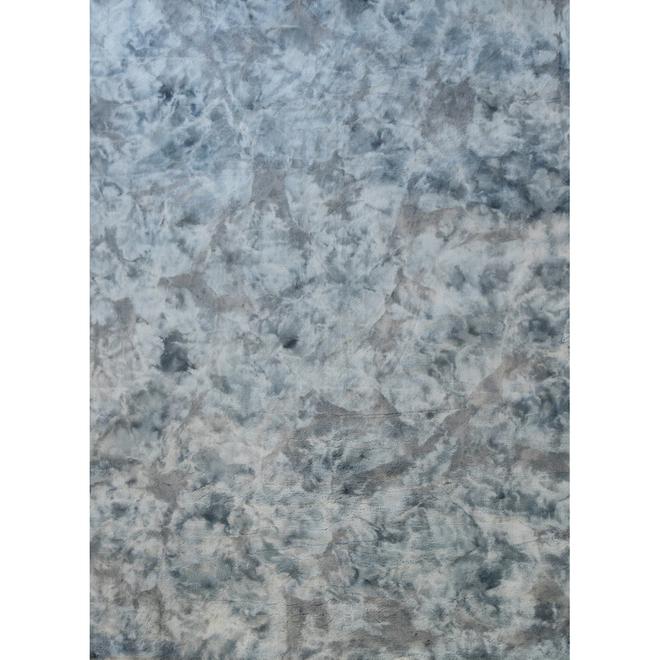 Korhani Home - Interior Rug - Fullbright - 6-ft. 5-in x 8-ft. 6-in - Polyester - Blue