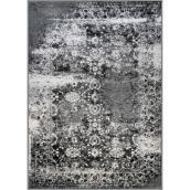 Tapis d'intérieur Garett de Kormani Home, 7,87 pi x 9,84 pi, 2 tons de gris