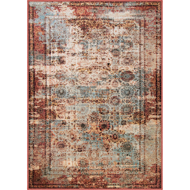 Kormani Home Adelram Interior Area Rug - 7.87-ft x 9.84-ft - 2-Tone Red