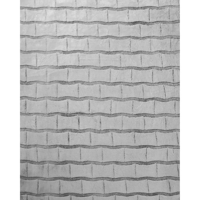 Tapis d'intérieur Raaka de Kormani Home, 8,7 pi x 6,56 pi, gris