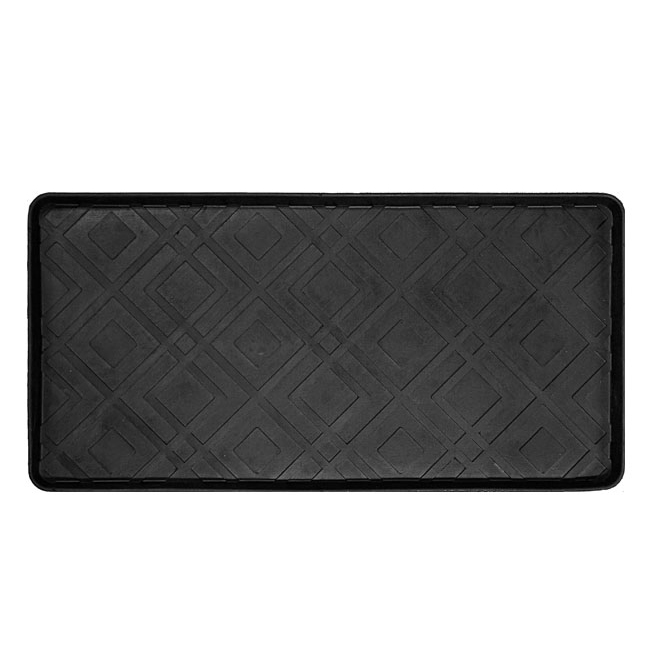 Korhani Studio Westwood Boot Tray - Rubber - 16-in x 31-in - Black
