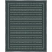 Korhani Leo Outdoor Rug - 8-ft x 10-ft - Polypropylene - Charcoal