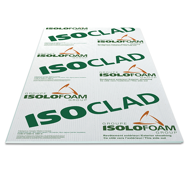 "Isoclad Air-Barrier Panel - 1"" x 4' x 9'"
