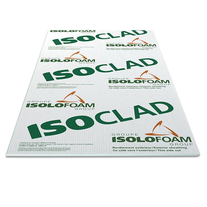 """Isolant rigide pare-air Isoclad, 1"""" x 4' x 9'"""