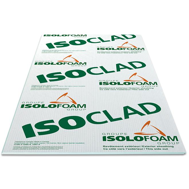 "Panneau isolant «ISOCLAD», Tyvek, 108"" x 48"" x 1 3/4"", R7.5"