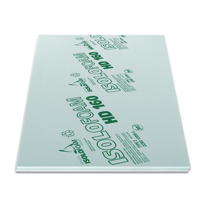 Isolofoam HD 160, 48 x 108 x 1,25 po, vert