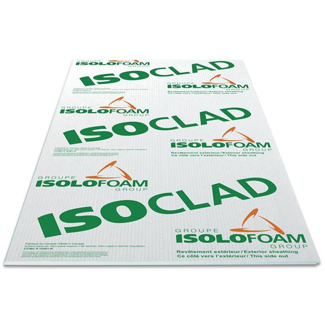 Panneau isolant pare-air Isoloclad d'Isolofoam, polystyrène expansé, 9 pi x 4 pi x 1 po, vert