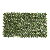 Nature Decor Expandable Gardenia Lattice - PVC 36-in x 72-in - Brown and Green