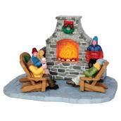 Outdoor Fireplace Scene - Village Figures