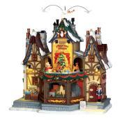 Hamlet Shoppe Animated Christmas Building - Porcelain