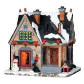 Turner Estate Lighted Christmas Residence - Porcelain