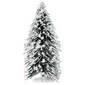 "Decorative Snowy Pine Tree - 6"" - Resin - Green/White"