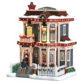 Illuminated House - 25 cm x 15.5 cm x 19.5 cm - Resin/Porcelain