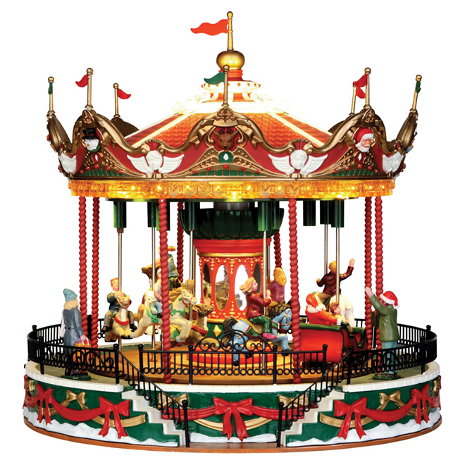 lemax carnival carousel with music resin 10 5 34682 rona