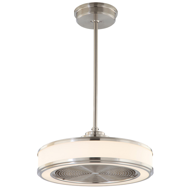 "Ventilateur de plafond 3 vitesses avec DEL, 22"", nickel"