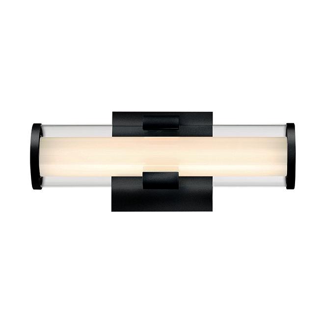 Luminaire mural de salle de bain transitoire pour meuble-lavabo Eurofase, DEL, 13 po x 5 po, noir