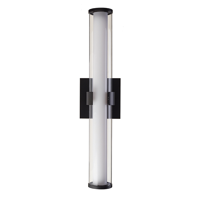 Vanity Light Bathroom Fixture - LED - 24'' x 5'' - Black