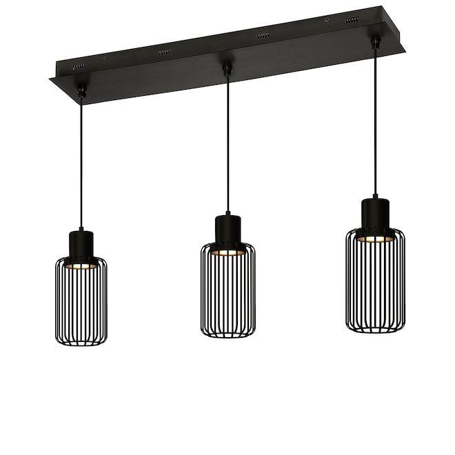 Linear Pendants - 3 Lights - 32'' x 7'' x 13'' - LED - Black