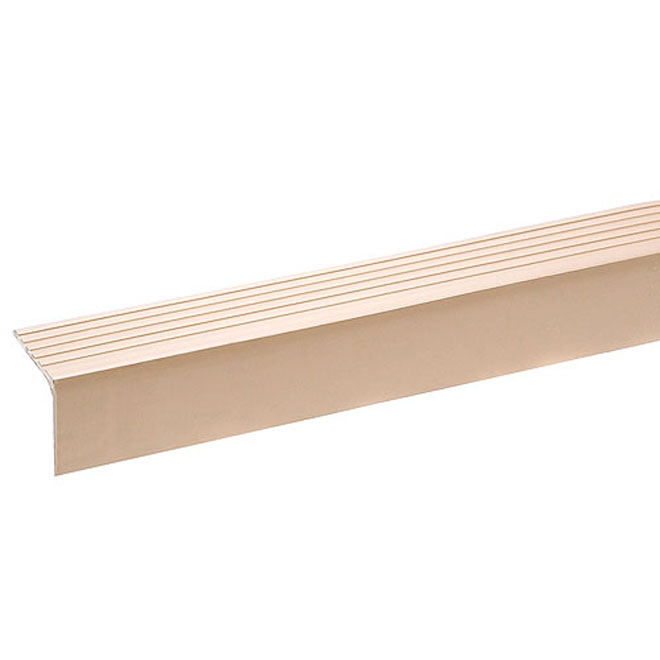 Nez de marche en vinyle beige pour bordure d'escalier 12'