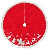 Jupe d'arbre de Noël, polyester, 56