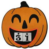 Calendrier Haunted Living en forme de citrouille, 15 po