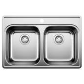 Blanco Essentials 2 Double Sink - Stainless Steel