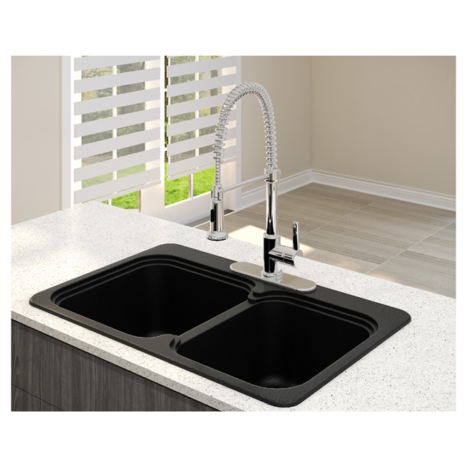 """Vienna 210"" Double Kitchen Sink - Anthracite"