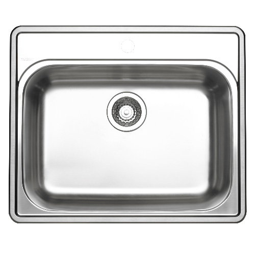 "Single Sink - Essential 1 - 25"" x 21"" - Stainless Steel"