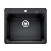 Blanco Single Kitchen Sink - Silgranit Vision 1 - Anthracite