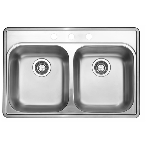 Blanco Essential 2 Drop-in Double Sink - Stainless Steel
