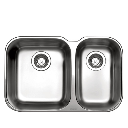 "One and Half Sink Essential U - 26.5 x 17"" - Stainless Steel"