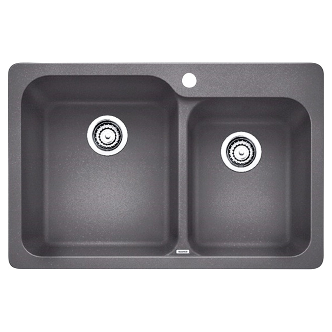 """Silgranit Vision"" Sink - Top/Under - 31 1/2"" - Grey"