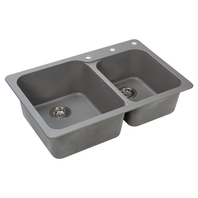 Blanco Silgranit Vision Double Sink - Top/Under - Grey