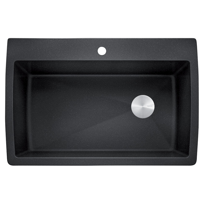 Blanco Silgranit Diamond Kitchen Sink - Charcoal - Top/Under