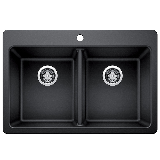 """Double Sink - """"Corence"""" - Granit - Black"""