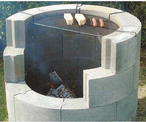 "Round Concrete Block - 5"" x 8"" x 6"""