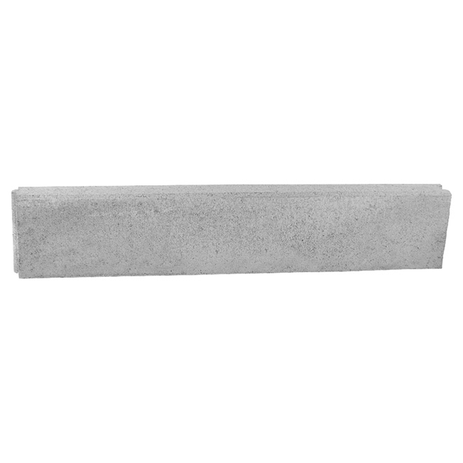 "Bordure universelle en ciment 39"", gris"