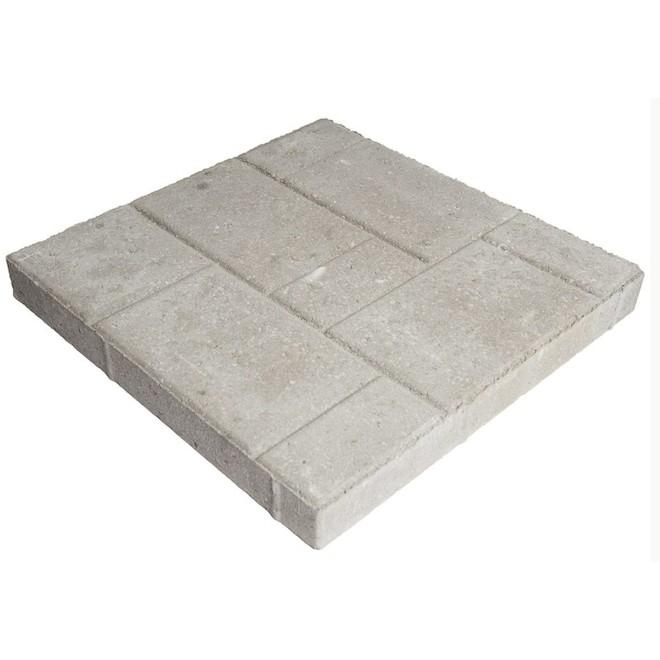 "Tiled Patio Slab - 16"" x 16"" - Light Grey"