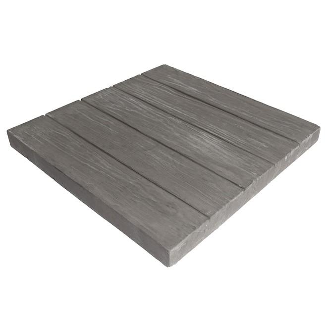 Dalle de patio Foresta, 19,38 po x 19,38 po x 1,5 po, gris foncé